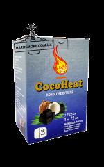Кокосовый уголь для кальяна Coco heat 1 кг, 72 шт.